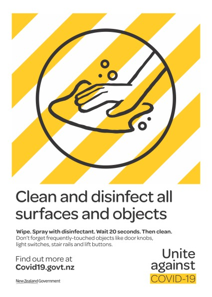 Posters: Poster - Clean & Disinfect